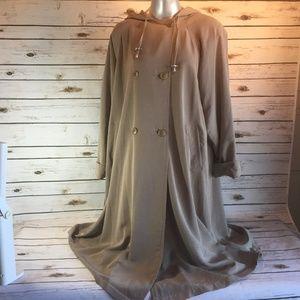 Mulberry Street Medium Trench Rain Coat Khaki